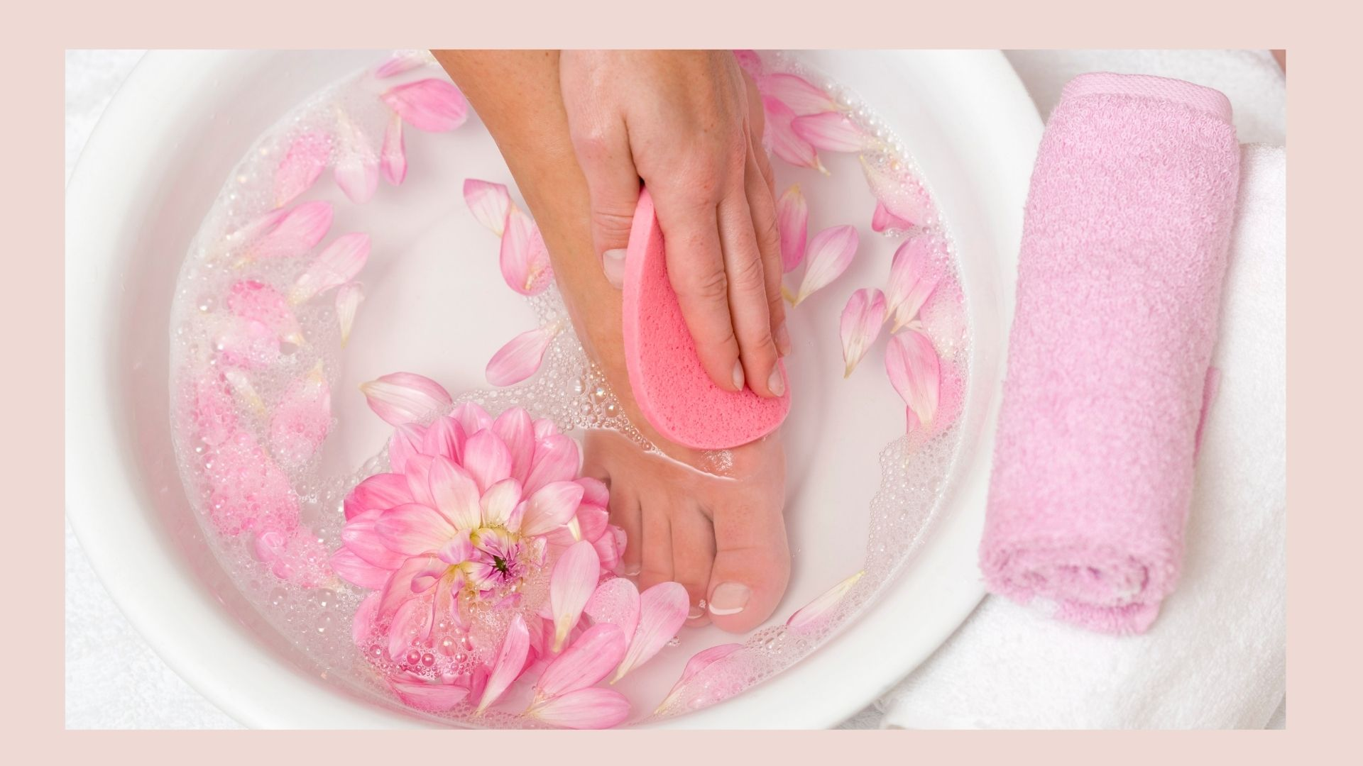 bain de pieds maison