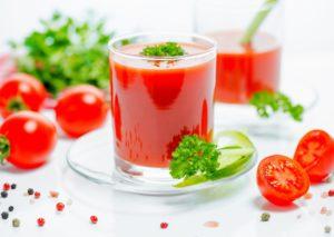 jus de tomates pour une belle peau